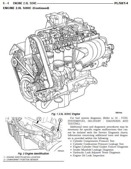 dodge caliber 2 0 exhaust diagram