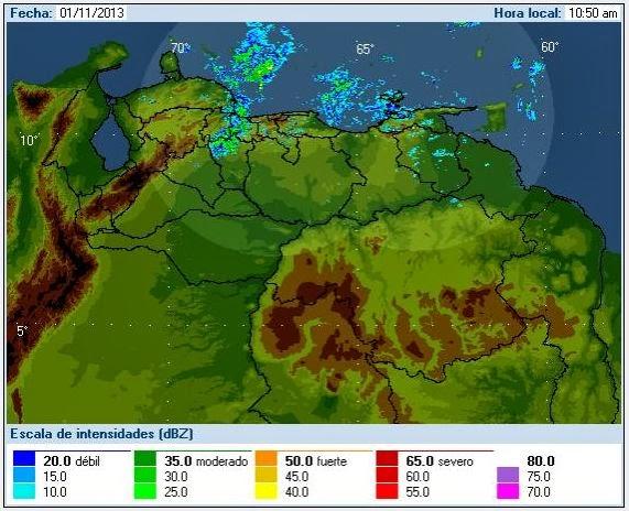 Clima en Venezuela (INAMEH):