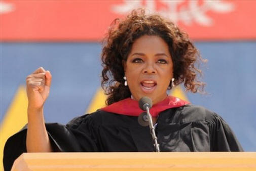 oprah winfrey speech analysis Global media leader and international philanthropist oprah winfrey greets karl pichotha after she gave the keynote speech at the 107th stanford university commencement ceremonies june 15, 2008 at.