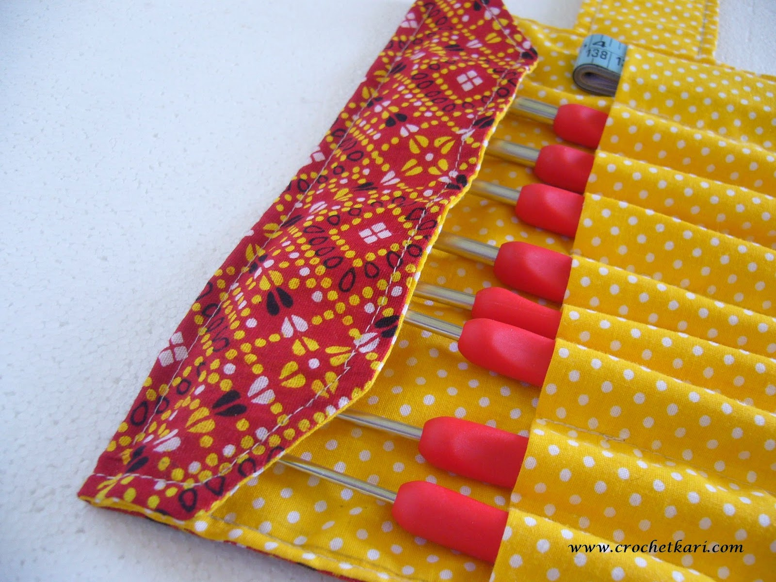 Crochet hook case detail
