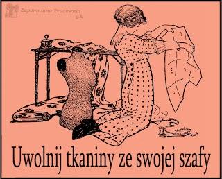 Biorę udział w uwalnianiu tkanin