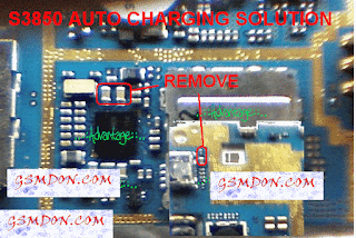 S3850 auto charging Water Damage Problem Remove This Red Mark Compunet.