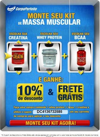 Promoção: Monte seu Kit de Massa Muscular