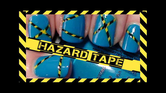 Caution Tape Crime Scene Nail Art