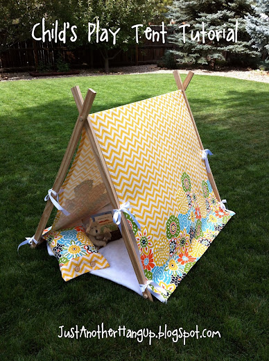 child 39 s play tent tutorial just another hang up bloglovin. Black Bedroom Furniture Sets. Home Design Ideas