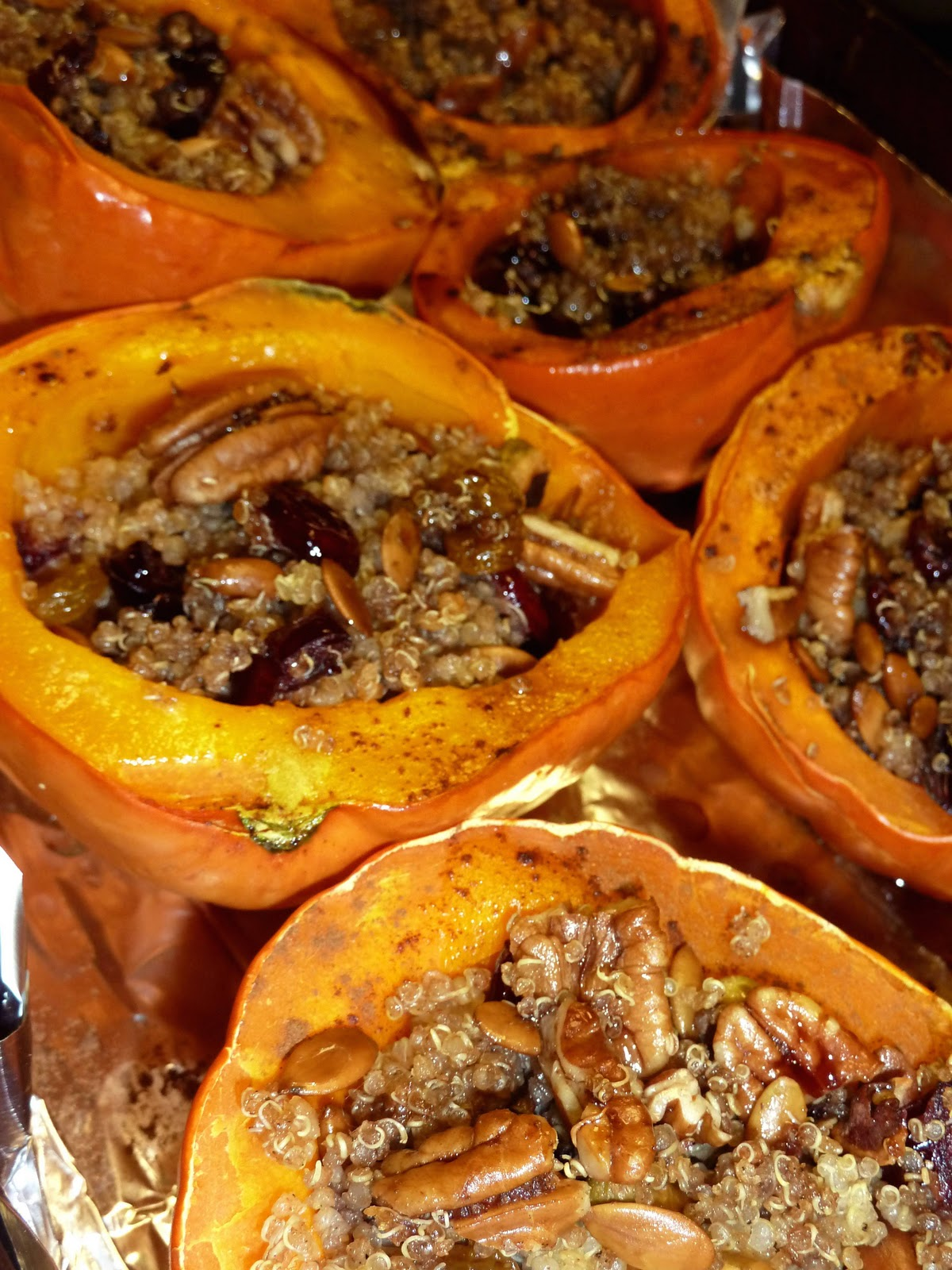 Dinner with Denise: Winter squash with Quinoa, fruit, nuts and a ...