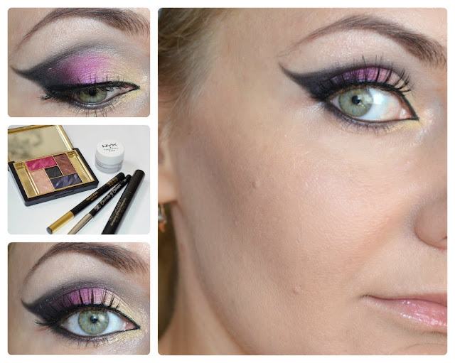 Макияж с Pure Color Five Color Eyeshadow Palette Коллекция Violet Underground от Estee Lauder