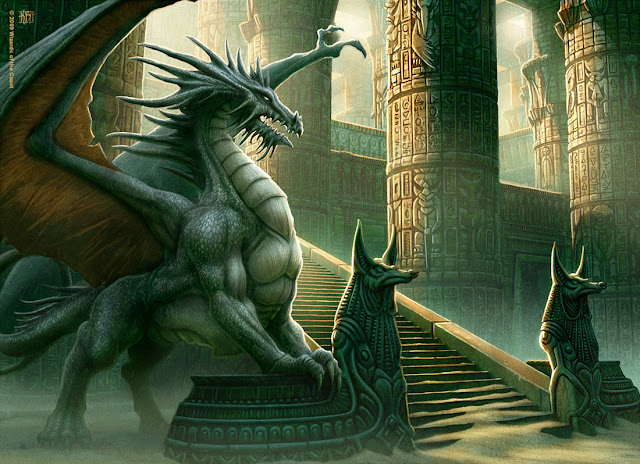 Dragao no Egito, dragão em templo egipcio, estatuas egipcias