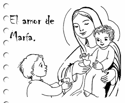 Imagenes Virgen Maria Para Colorear on barras