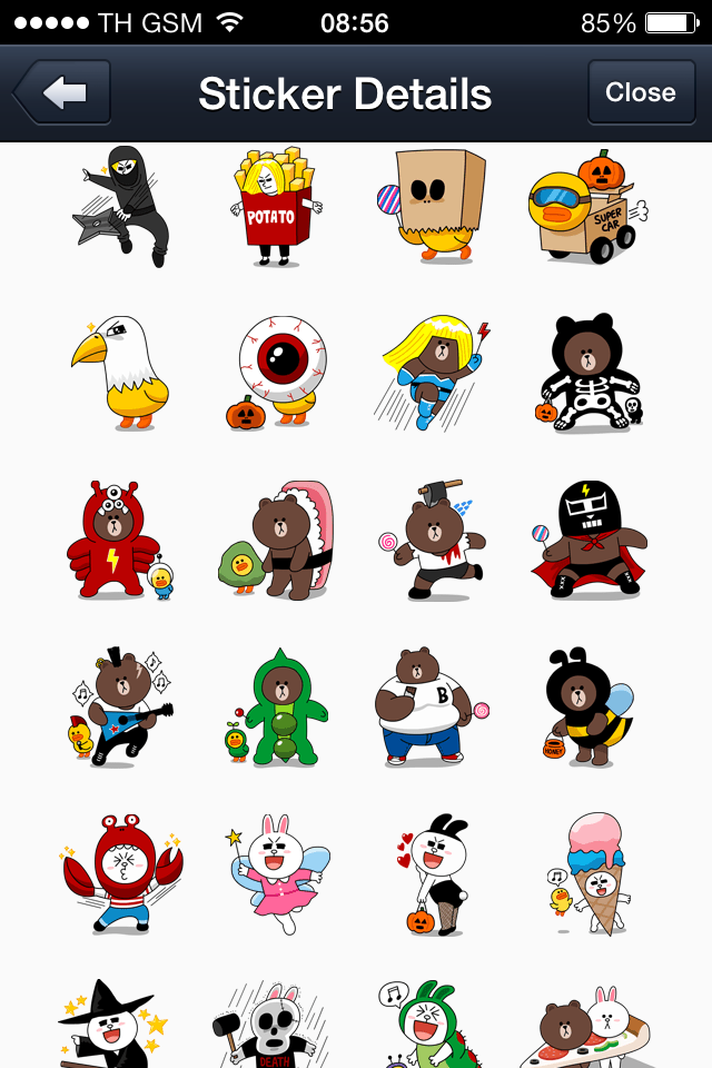 LINE Halloween Special free line stickers