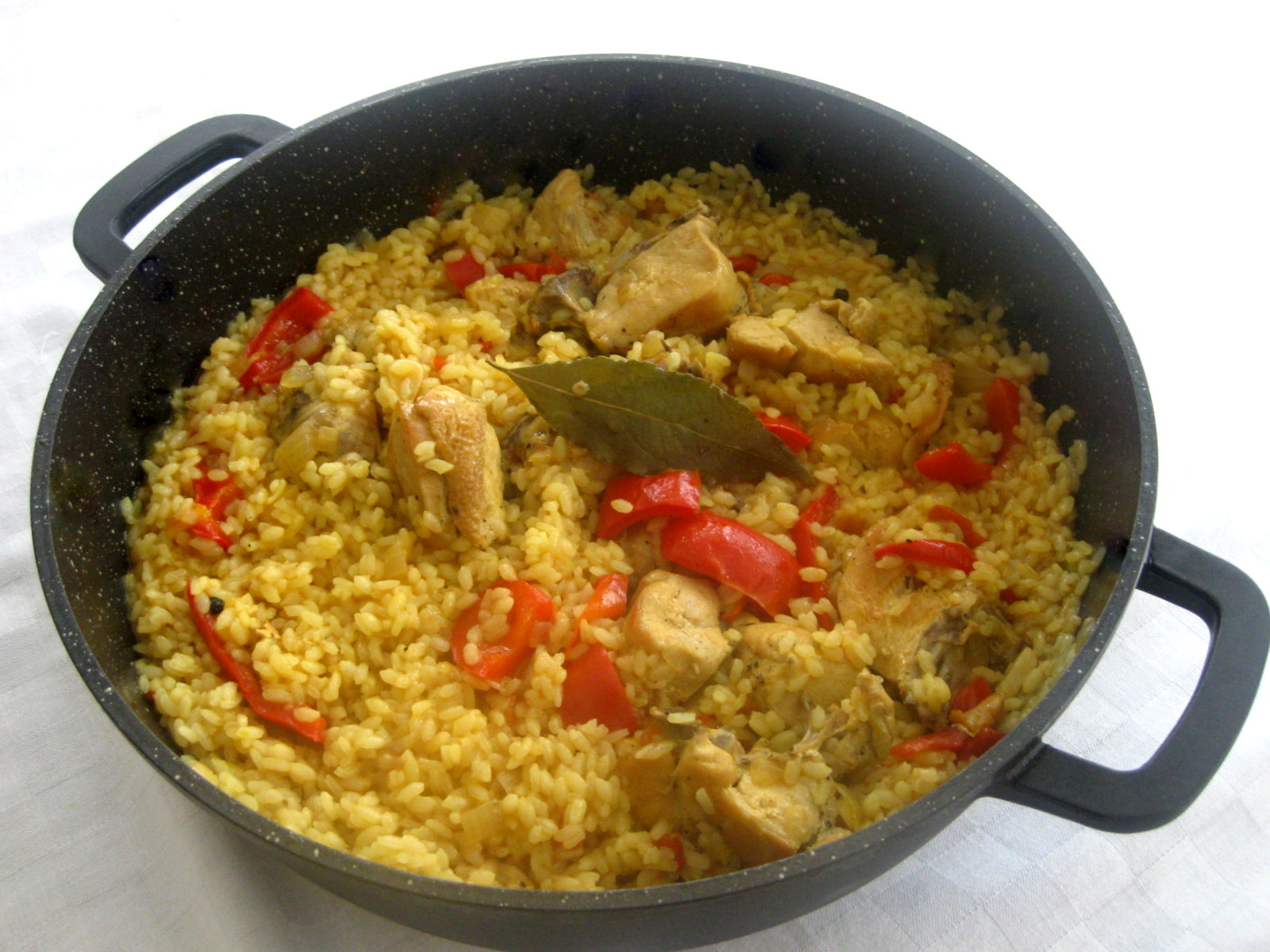 Arroz Con Pollo, Lightened Up Recipe — Dishmaps