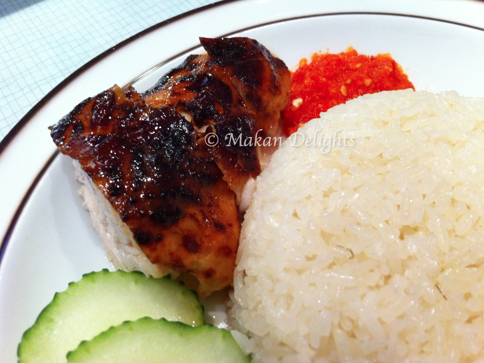 Makan Delights: Hainanese Roasted Chicken Rice