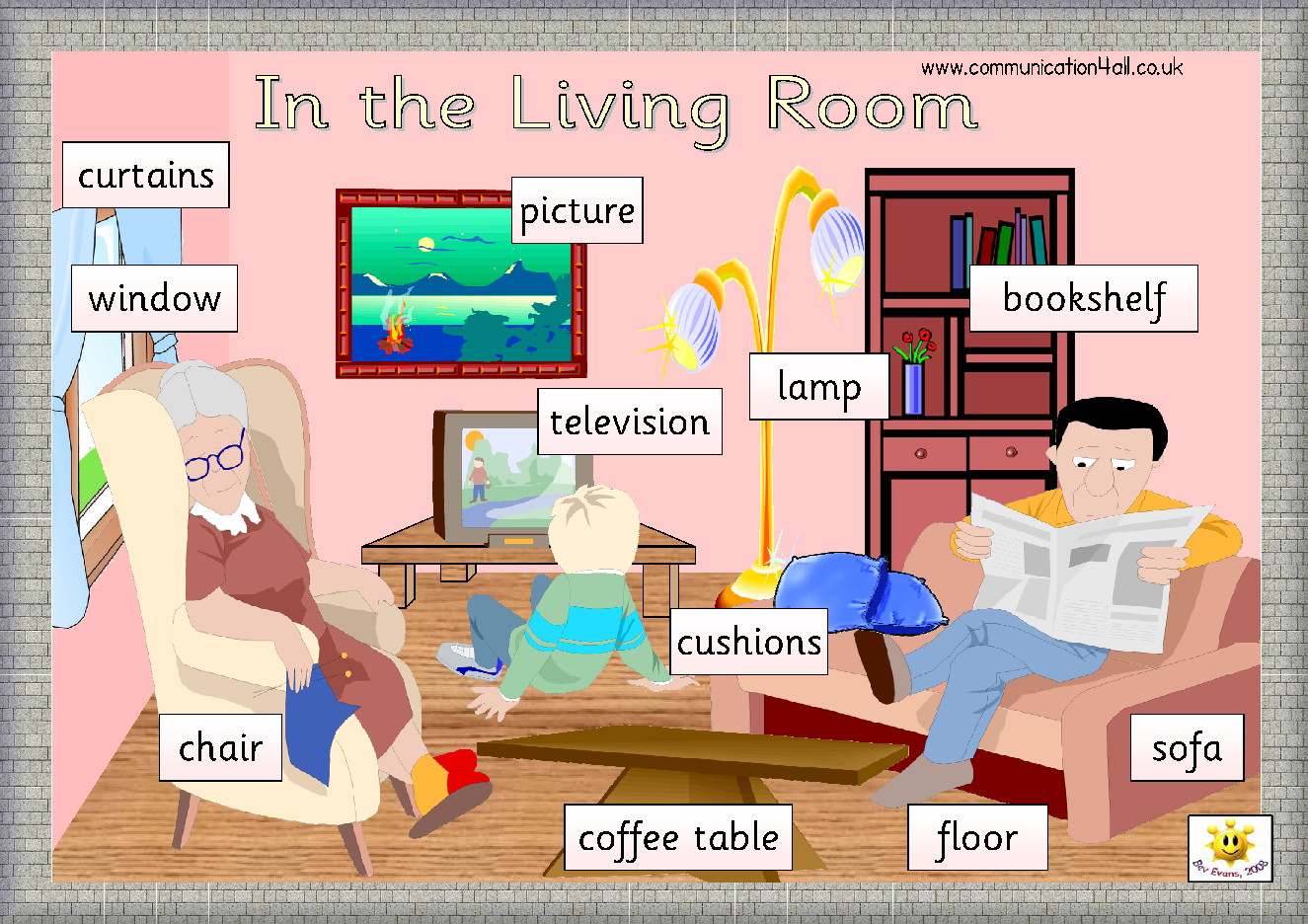 Living Room Furniture Vocabulary simple living room furniture vocabulary with pictures english