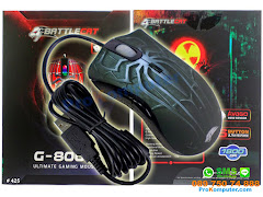 Mouse Gaming BattleCat G800U 6tombol 1800DPI
