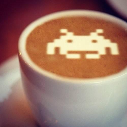 Space Invaders Latte Art on Global Geek News.