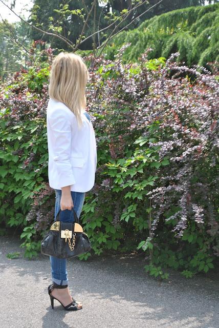 total denim outfit outfit olivia palermo blazer bianco mariafelicia magno fashion blogger colorblock by felym come abbinare il bianco white blazer
