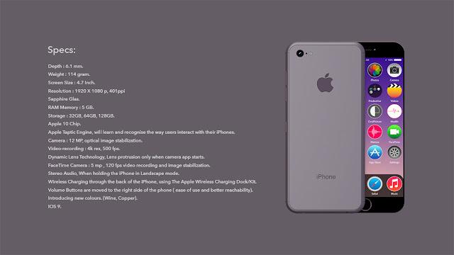 Spesifikasi dan bocoran iPhone 7