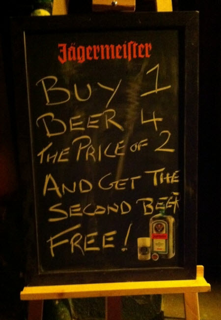 Compra una cerveza al precio de dos y obtén la segunda gratis