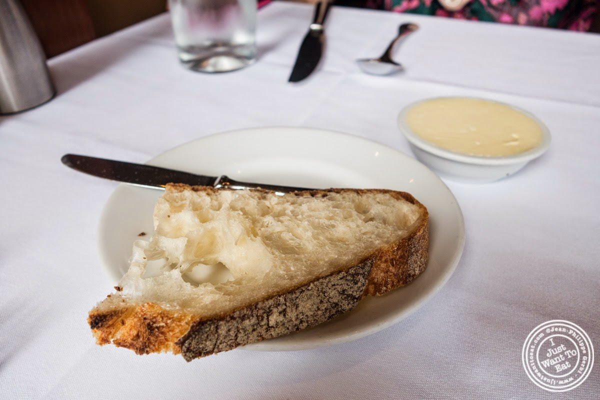 image of French white bread at Porterhouse in New York, NY