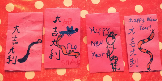 Chinese New Year Red Lucky Money Envelopes Craft