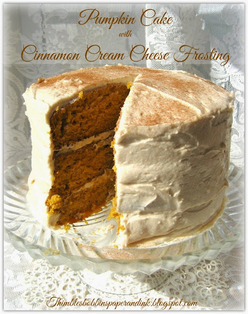 ... , Paper and Ink: Pumpkin Cake with Cinnamon Cream Cheese Frosting
