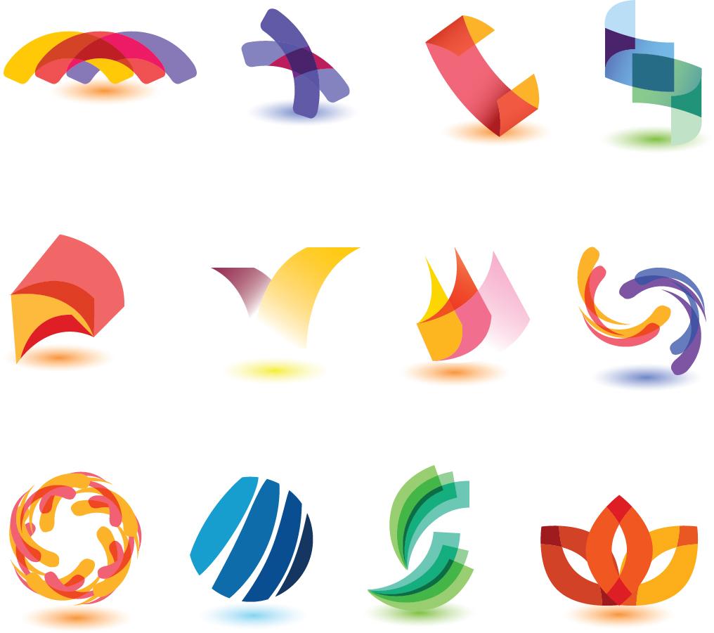 グラフィック パターン デザイン見本 Vector logo dynamic color graphic pattern イラスト素材