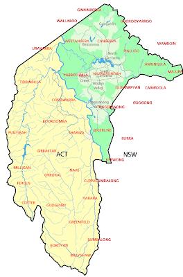 Australian Capital Territory Map