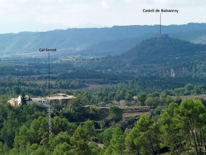 Panoràmica cap al sud-oest amb vistes del Castell de Balsareny i de Cal Serrat