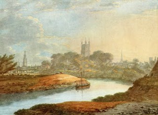 View of Gloucester - Water Color Painting BY THOMAS HEARNE