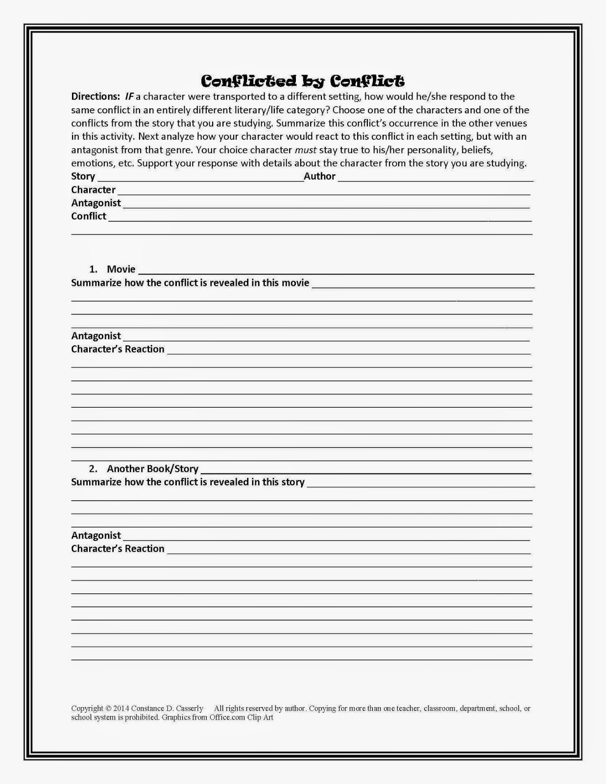 Printables English Worksheets For High School critical thinking worksheets for highschool students quote addicts teach it write july english language arts lesson plan quot conflicted by conflict quot
