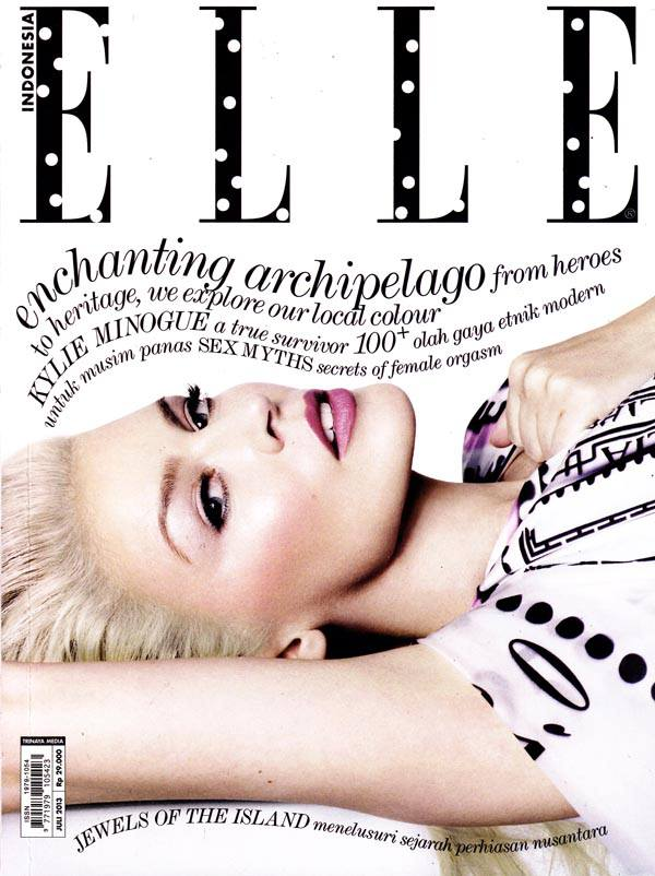 Kylie Minogue on Cover for Elle Indonesia August 2013 ...