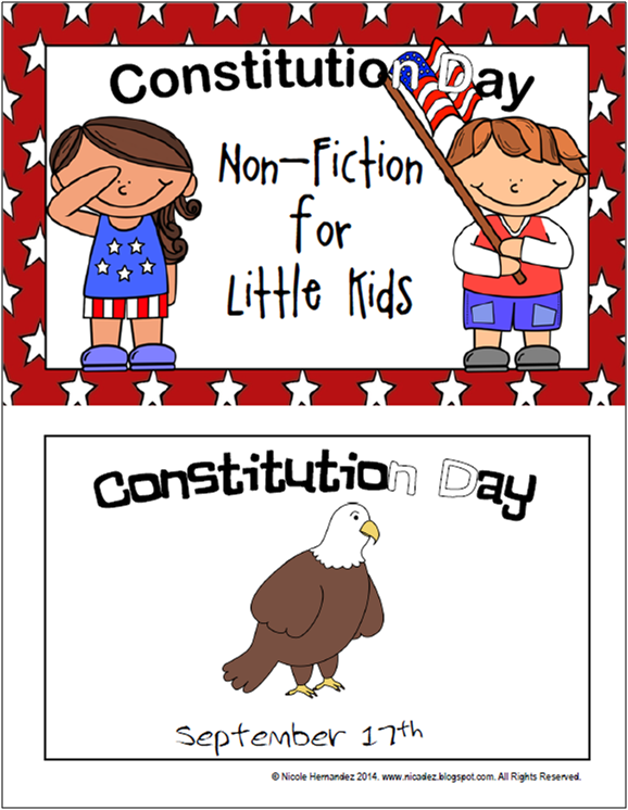 http://www.teacherspayteachers.com/Product/Constitution-Day-NonFiction-for-Little-Kids-1449044