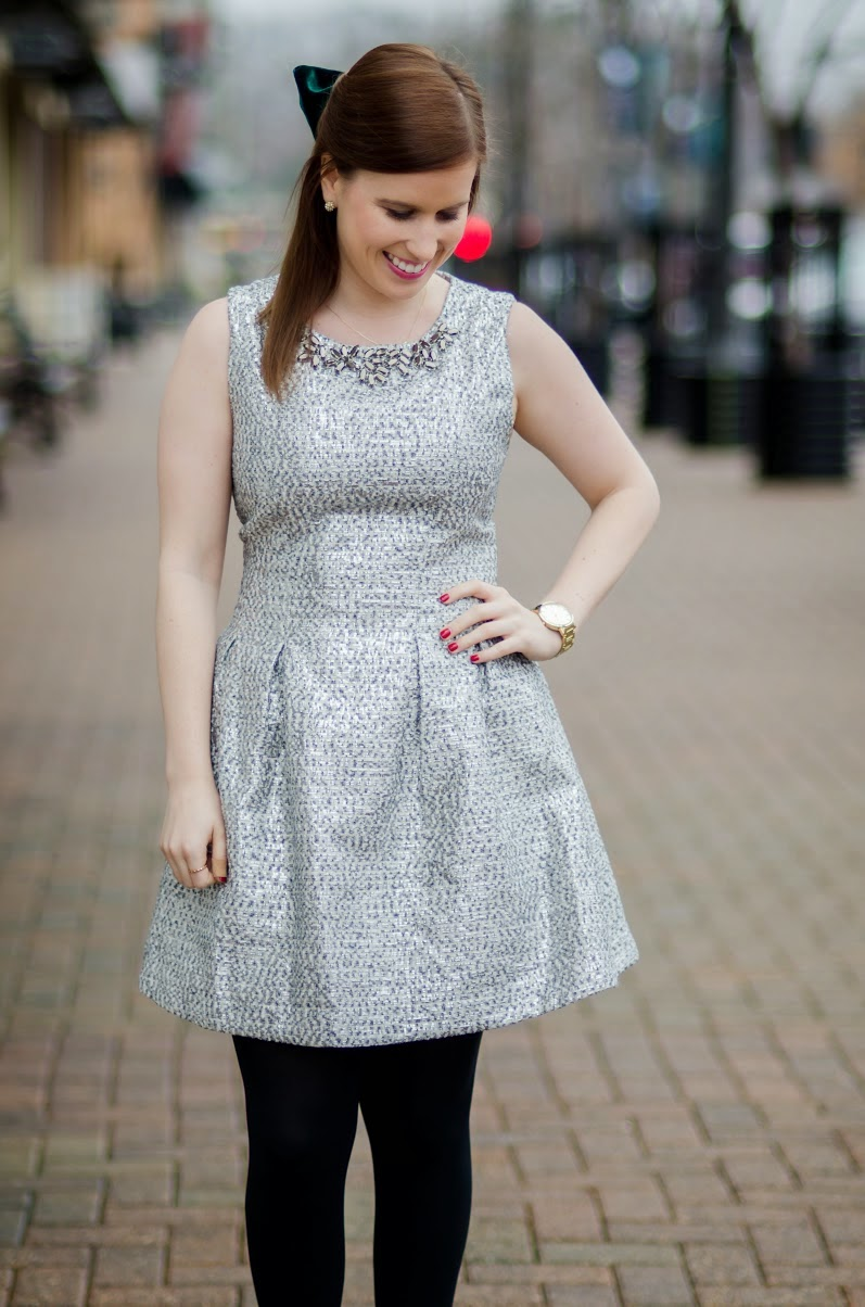 lattes & leopard: Holiday party dress