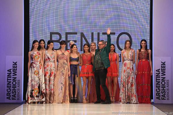 Benito Fernandez vestidos 2015. Desfile Argentina Fashion Week primavera verano 2015. Moda Argentina 2015.