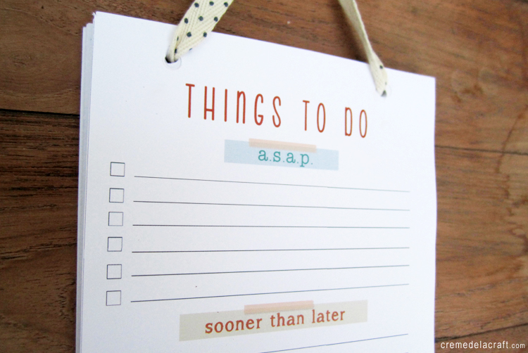 DIY: To Do List Notepad (with free printable)