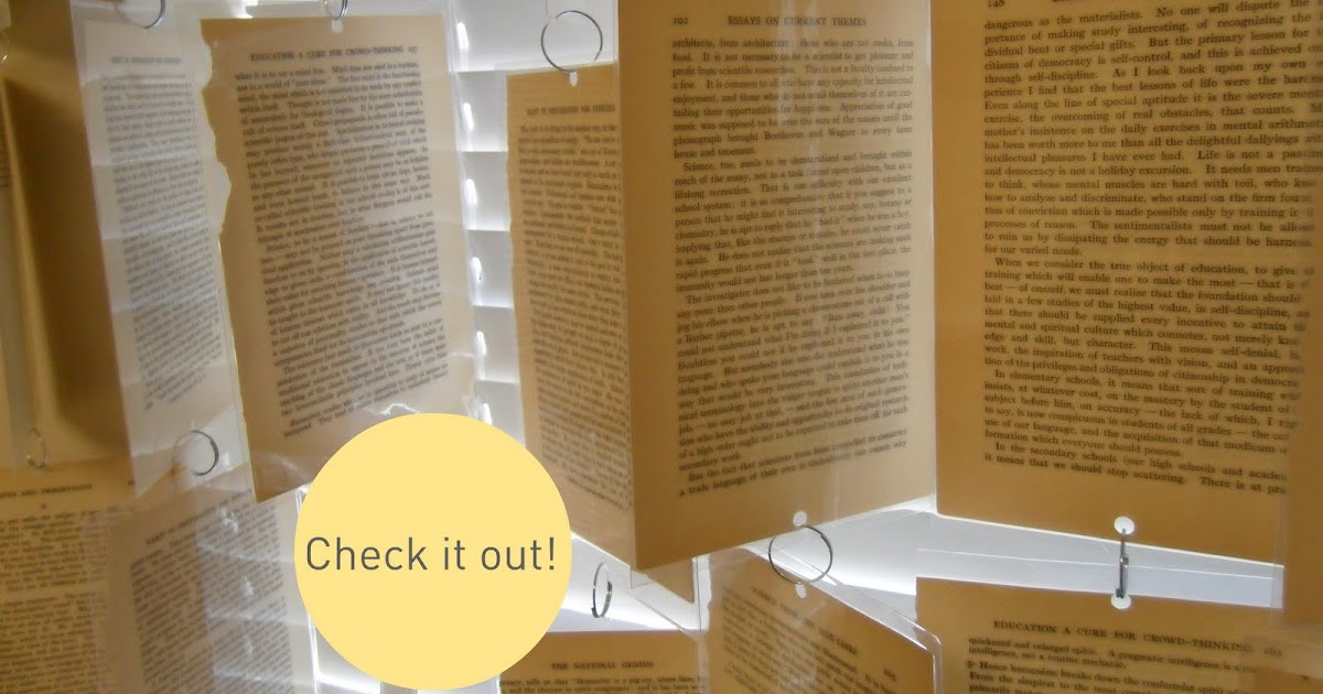 Tattered Style: Book Page Window Treatment