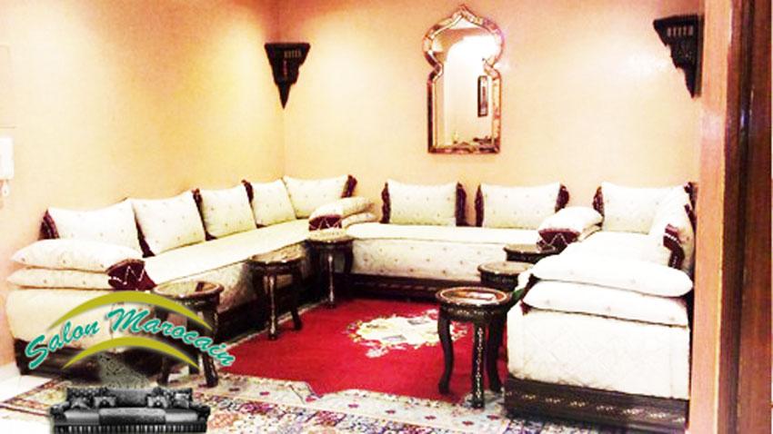 d coration salon marocain moderne 2016. Black Bedroom Furniture Sets. Home Design Ideas