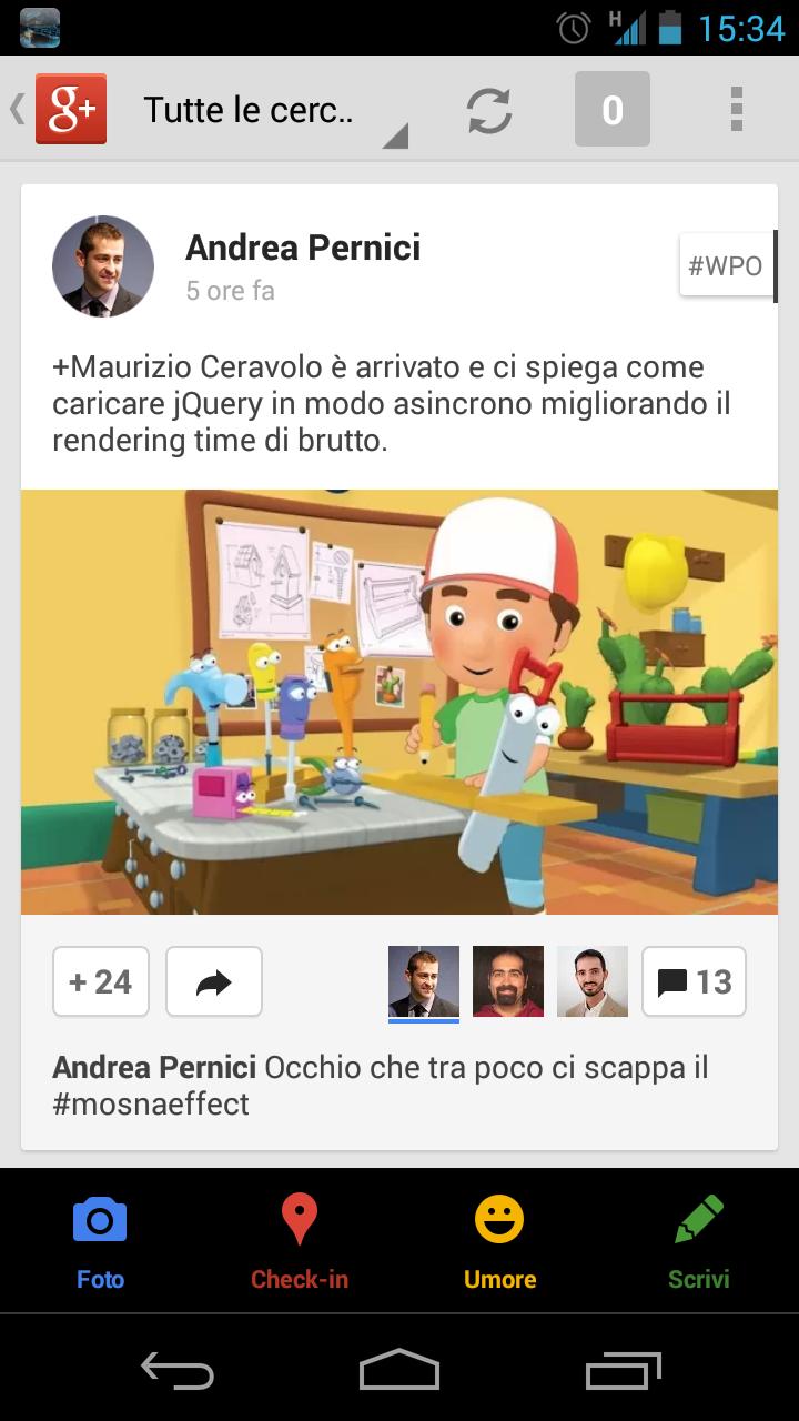 Condividere Google+