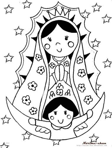Imgenes De La Virgen De Guadalupe Para Colorear En Imagenes De La Virgen De Guadalupe Para Colorear