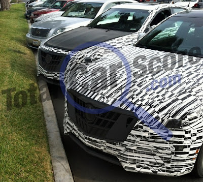 Next-gen Cadillac CTS-Vs caught in parking lot
