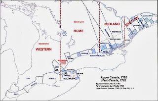 Map of Upper Canada, 1792