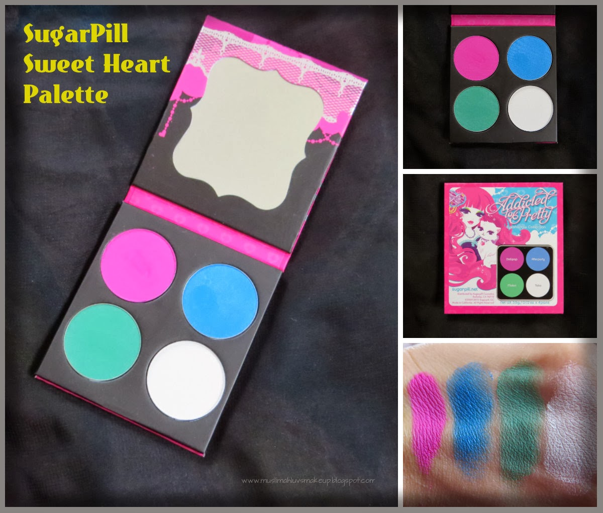 Muslimahluvsmakeup sugarpill eyeshadow palettes review for Palette 34