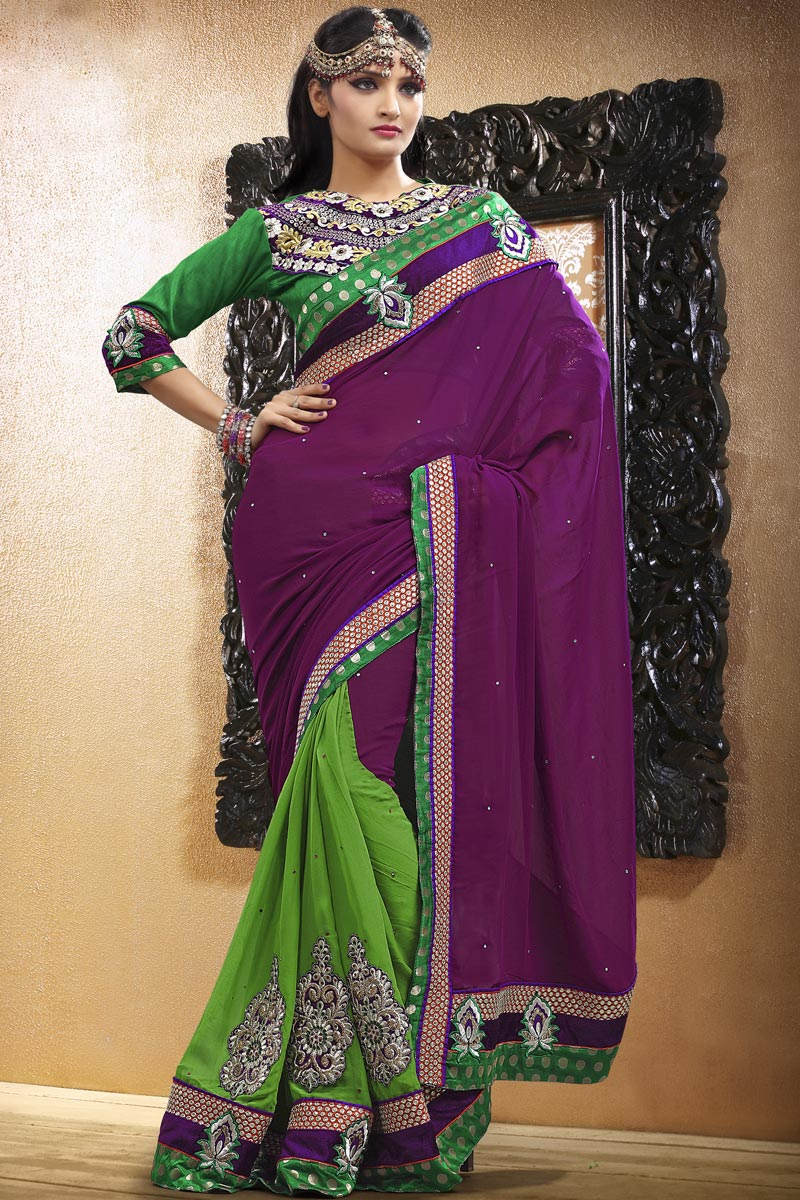 Party Wear Beautiful Indian Saree Collection 2013 - kaftan abaya dresses