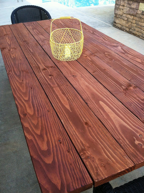 Pine Tree Home Outdoor Farm Table Finishing the Table Top