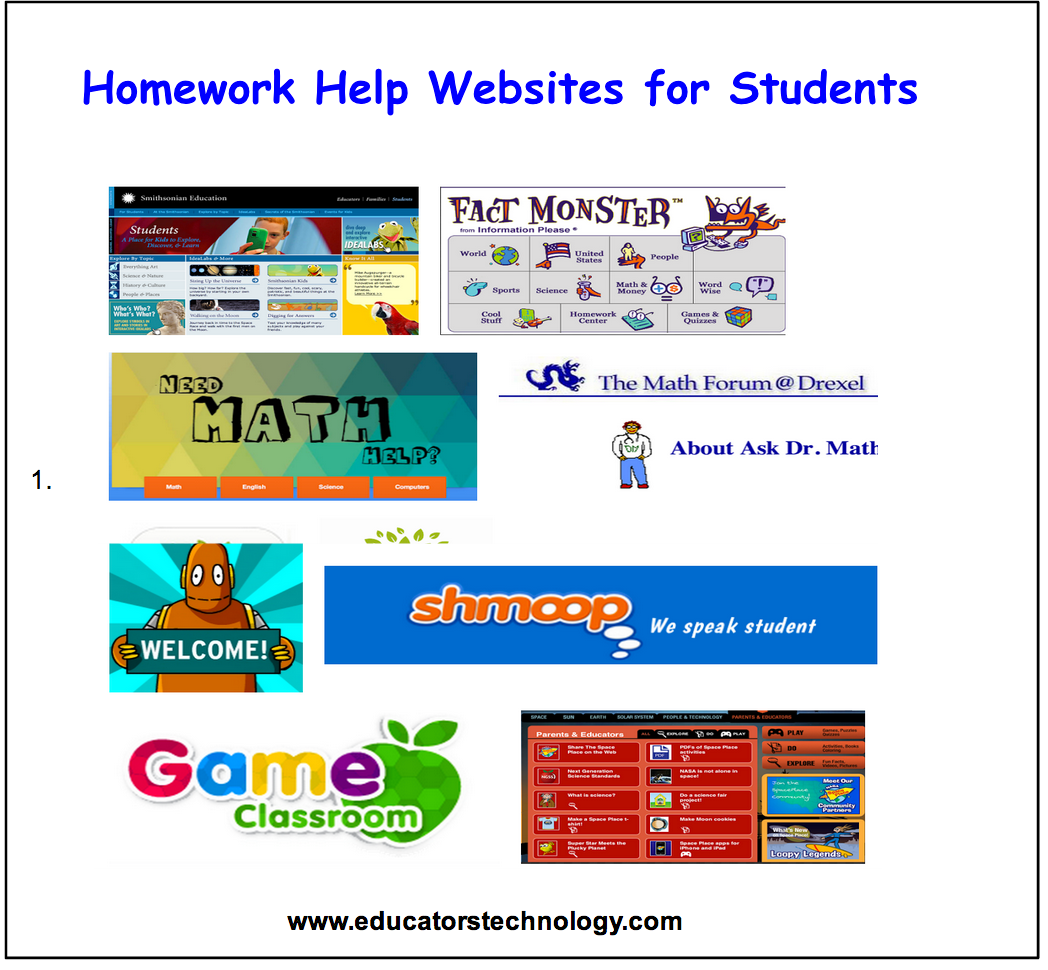 10 Great Homework Help Websites for Students ~ Educational Technology and Mobile Learning