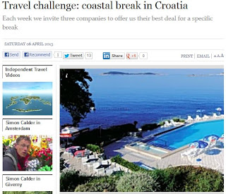 The Independent 6th April 2013 - Croatia Holidays Challenge