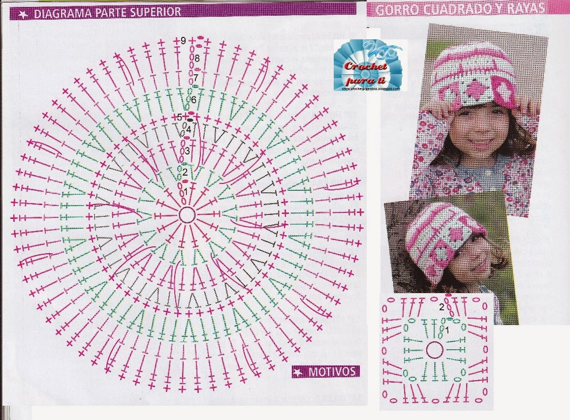 11 - Cuadrados y Texturas - Gorro Crochet Granny ~ Crochet para Ti