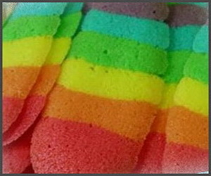 Kue Lidah Kucing Rainbow