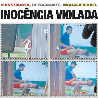 Criança de 3 anos é violentada em praça pública no interior de Goiás