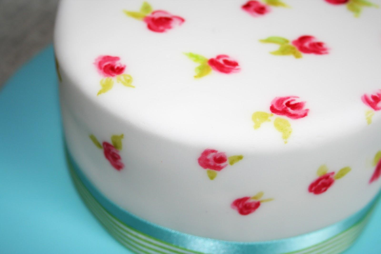 Dann Good Cake: Hand Painted Rose Cake